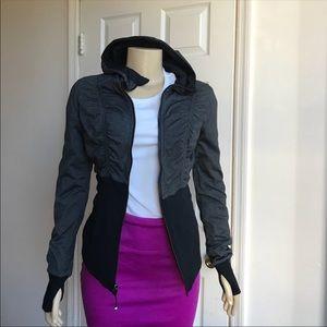 Lululemon Black & Gray Reversible Hoodie Size 4